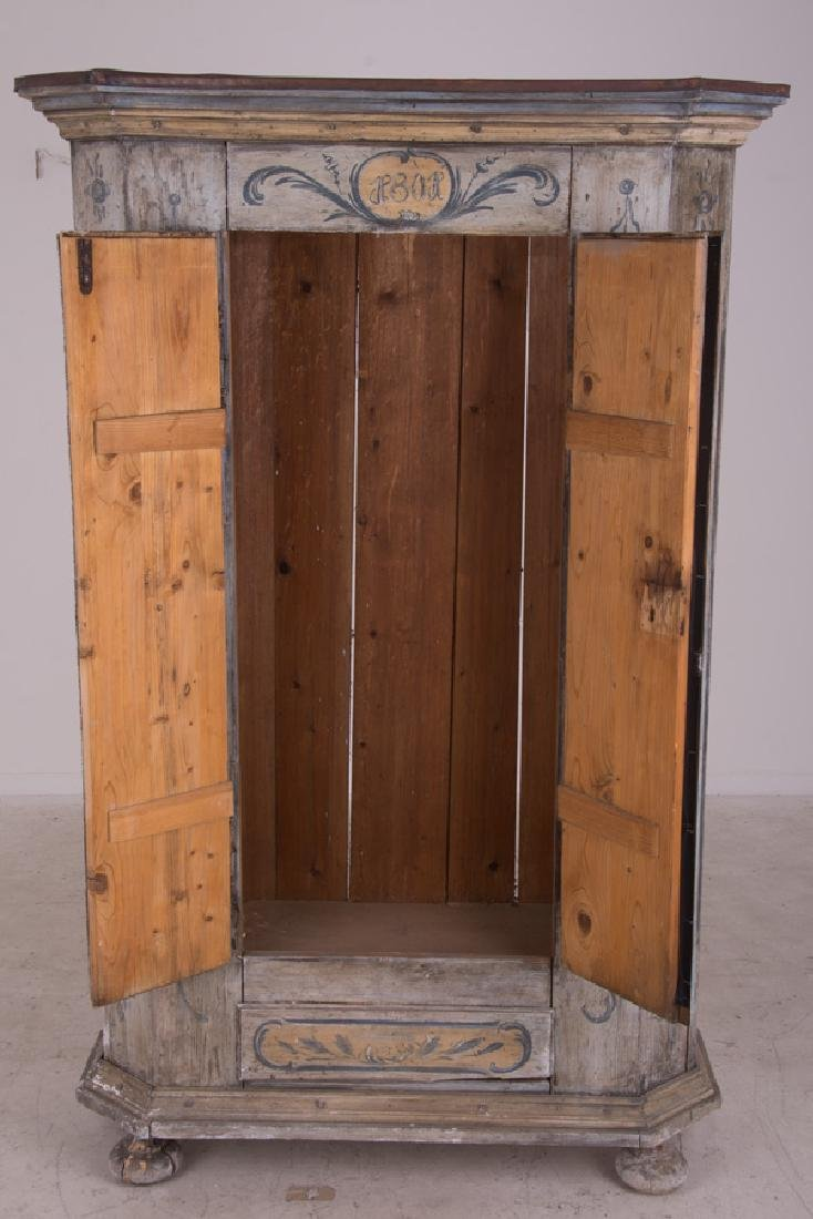 CONTINENTAL PAINTED TWO DOOR CABINET - 9
