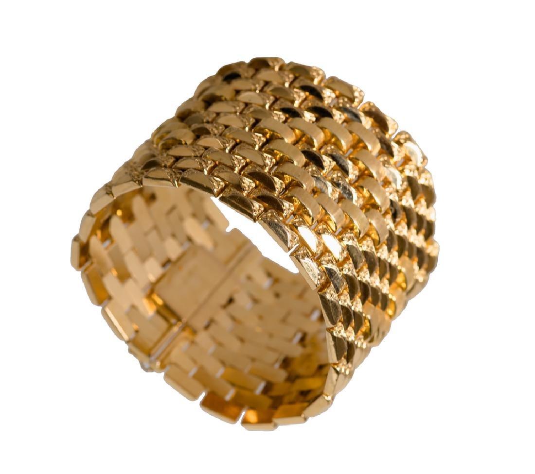 18 KARAT GOLD WIDE CUFF BRACELET
