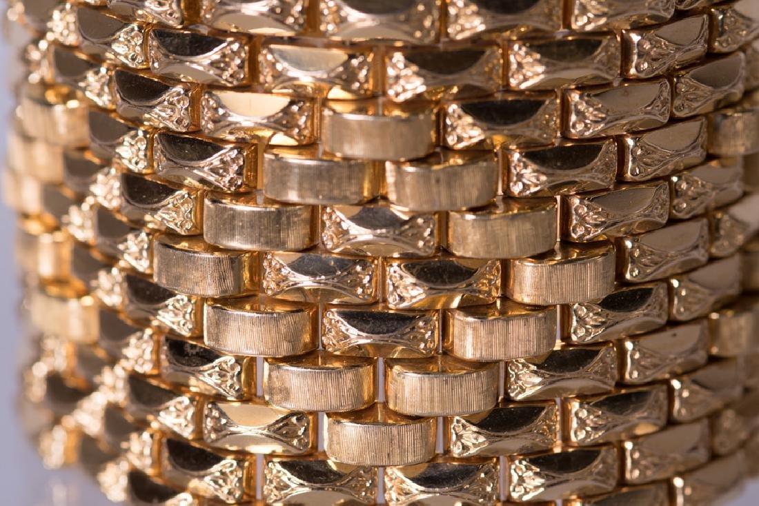 18 KARAT GOLD WIDE CUFF BRACELET - 5