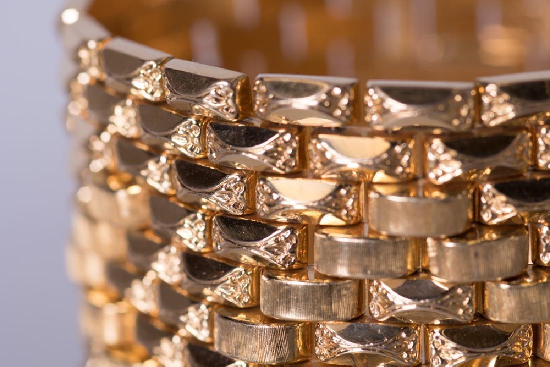 18 KARAT GOLD WIDE CUFF BRACELET - 6
