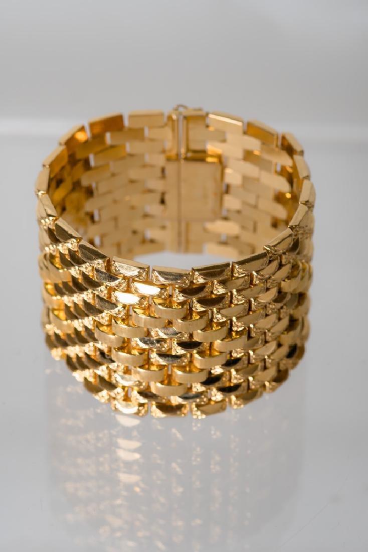 18 KARAT GOLD WIDE CUFF BRACELET - 7