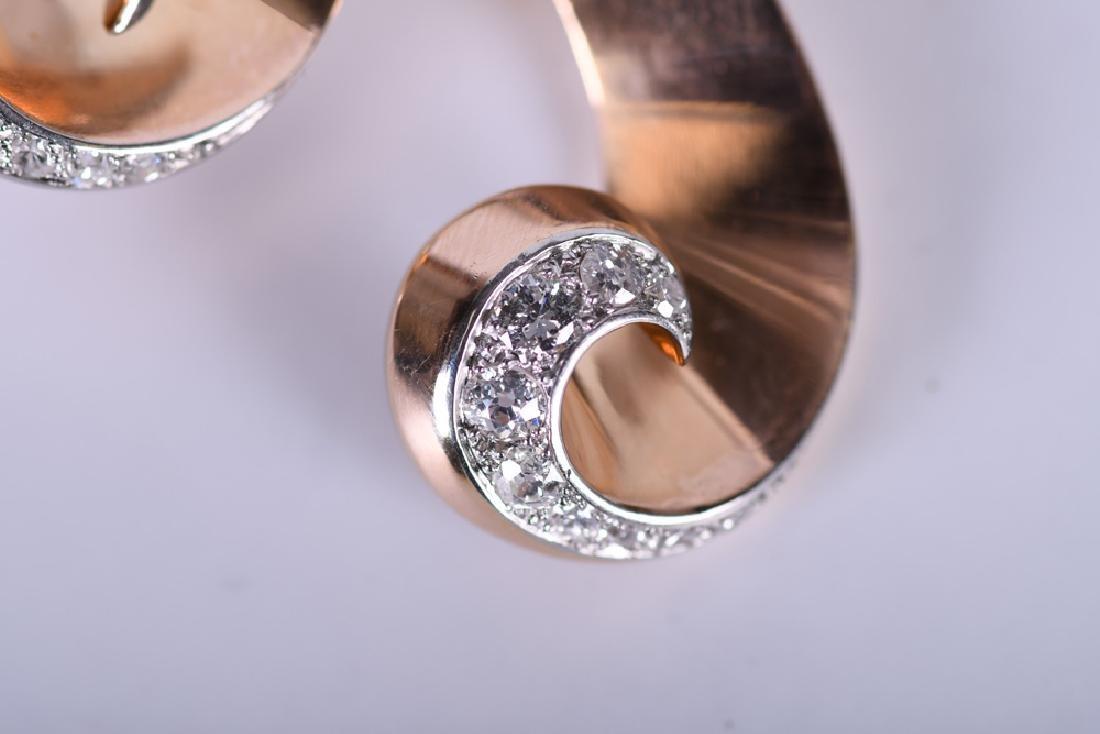 18 KARAT ROSE & WHITE GOLD, RUBY, & DIAMOND RETRO - 5