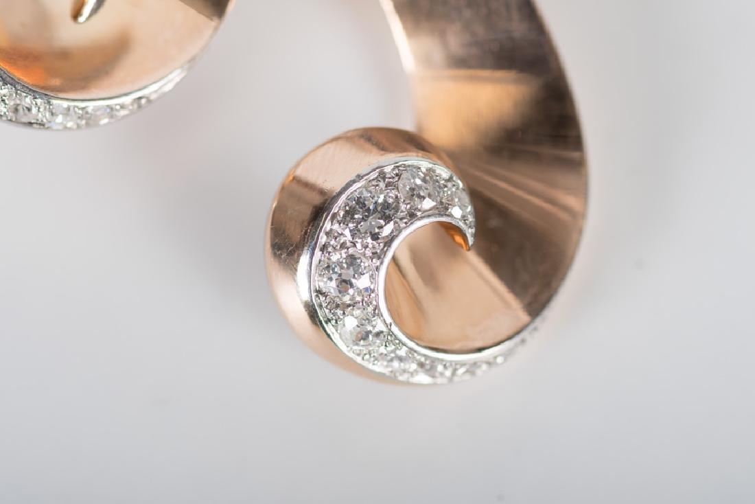 18 KARAT ROSE & WHITE GOLD, RUBY, & DIAMOND RETRO - 6