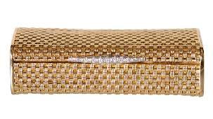 18 KARAT GOLD & DIAMOND MESH BOX