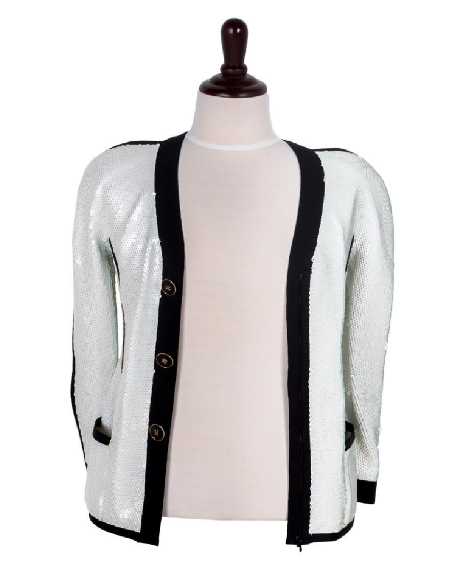 CHANEL BOUTIQUE SEQUIN ZIP FRONT JACKET
