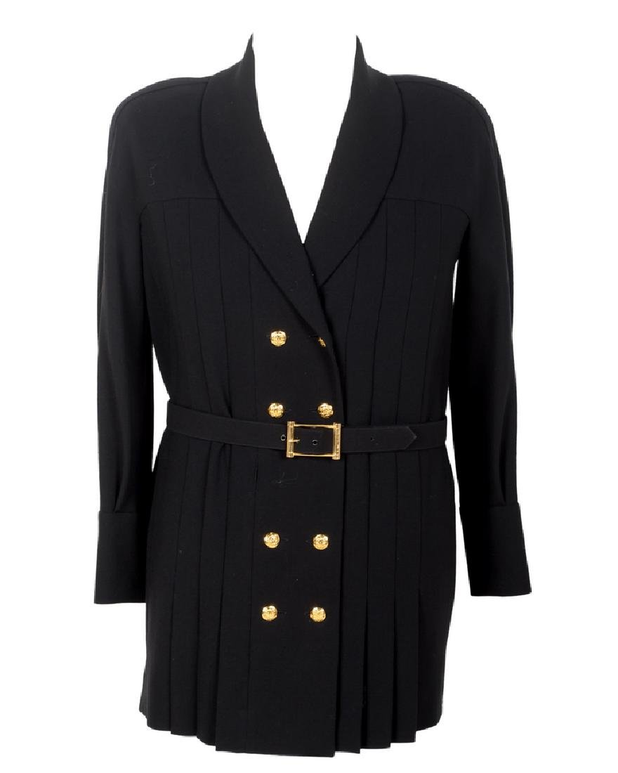 CHANEL BOUTIQUE DOUBLE-BREASTED JACKET WITH BELT