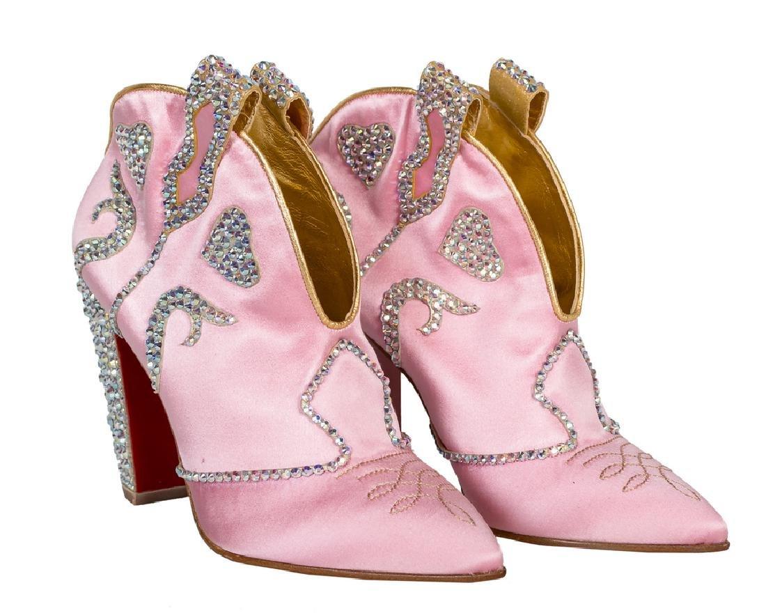 177374dd79f ... wholesale pair of pink christian louboutin lassodita boots 1b8b9 0b34f