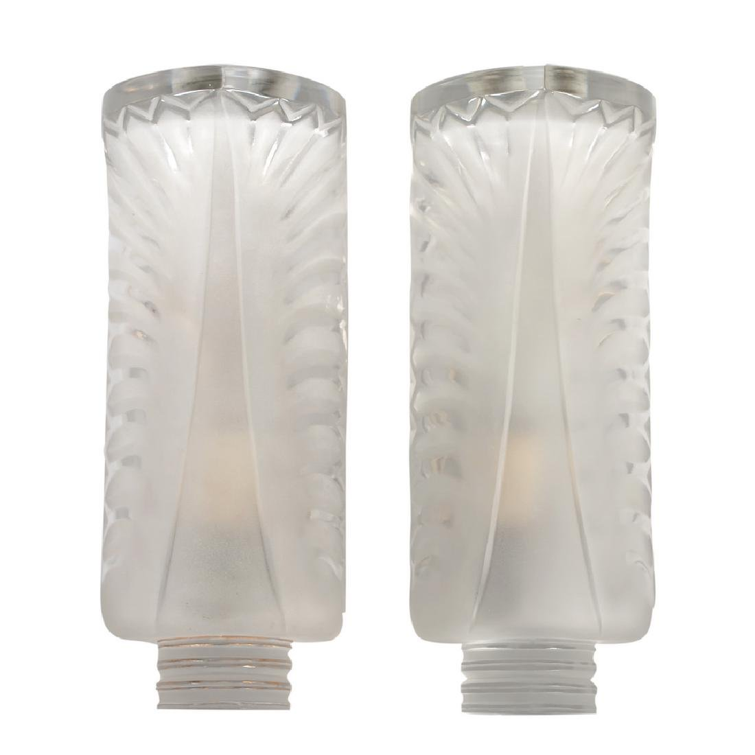 PAIR OF LALIQUE FROSTED SCONCES