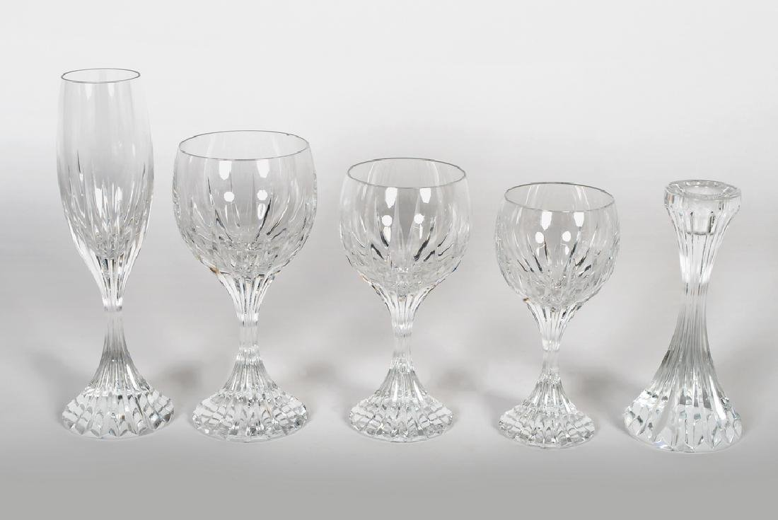 BACCARAT STEMWARE MOLDED GLASS SERVICE