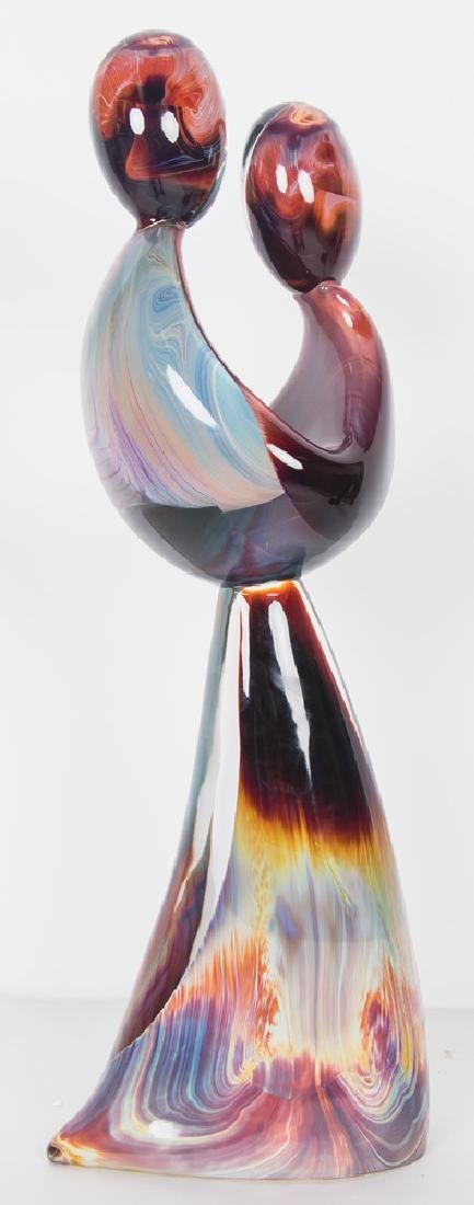 DINO ROSIN FOR MURANO: ART GLASS FIGURAL GROUP