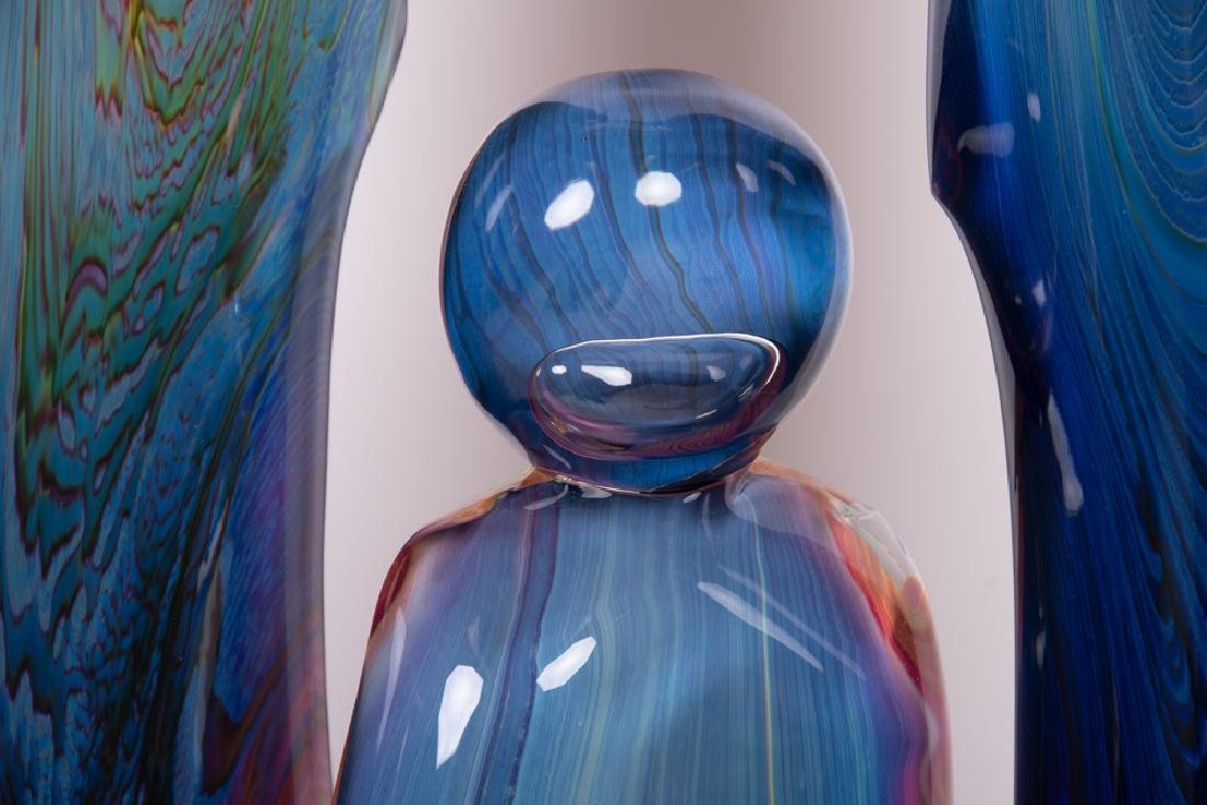 DINO ROSIN FOR MURANO: ART GLASS FIGURAL GROUP - 8