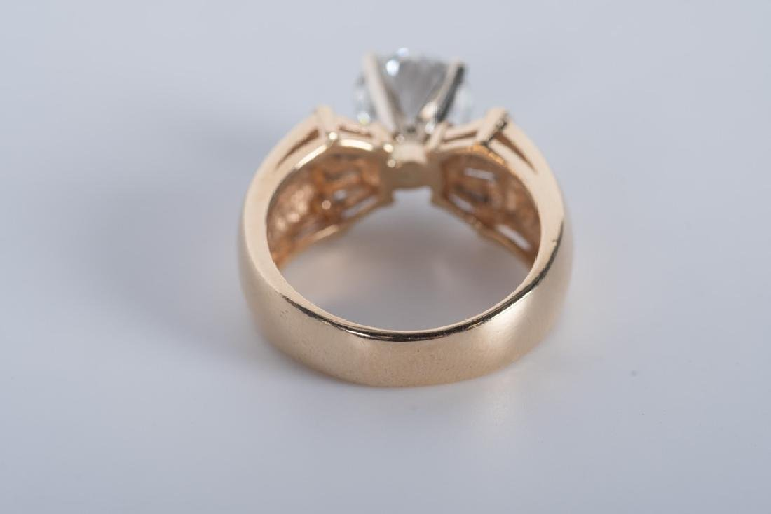 14 KARAT GOLD & DIAMOND RING - 4