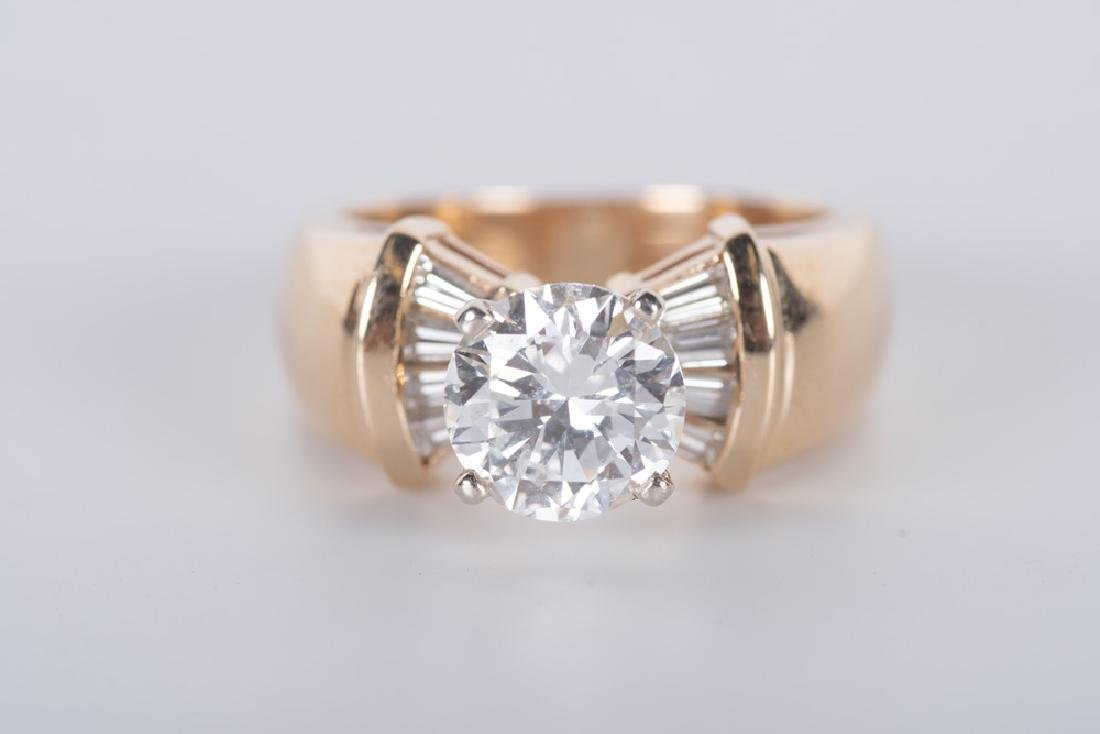 14 KARAT GOLD & DIAMOND RING - 7