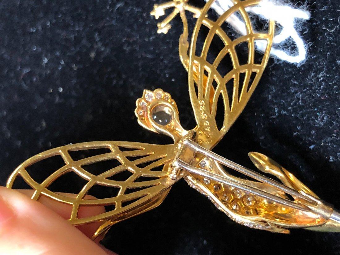 VAN CLEEF & ARPELS STYLE 18 KARAT GOLD & DIAMOND 'SPIRI - 10