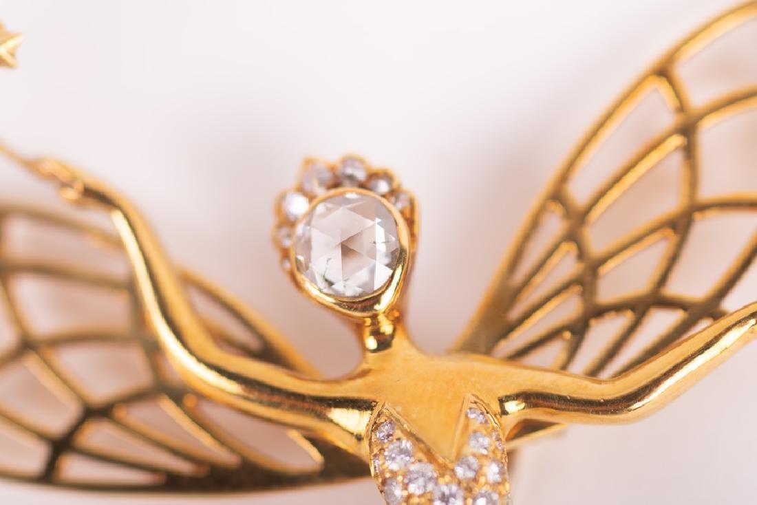 VAN CLEEF & ARPELS STYLE 18 KARAT GOLD & DIAMOND 'SPIRI - 2