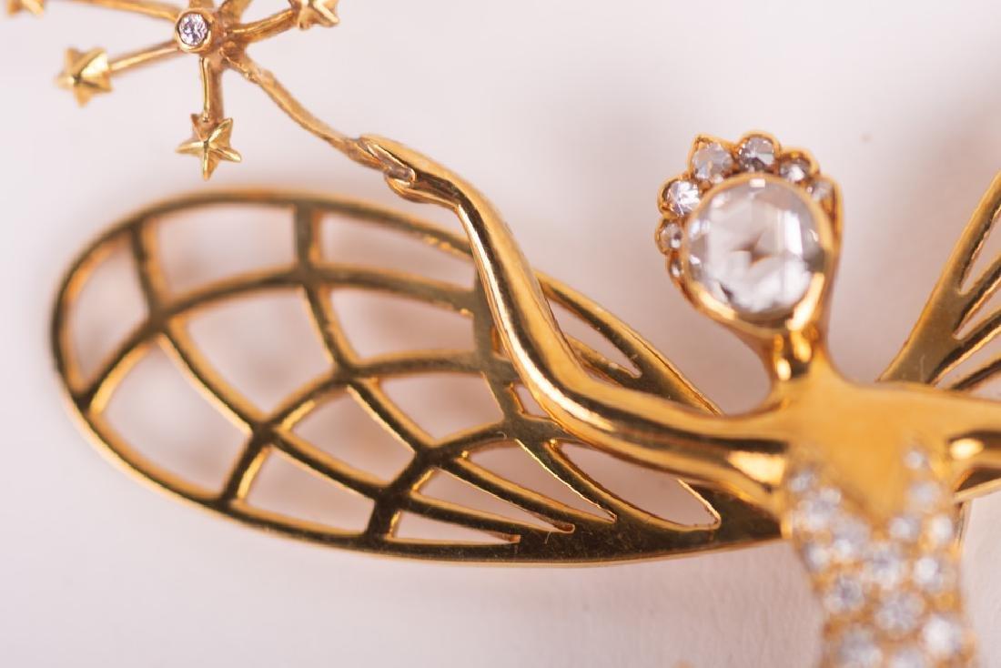 VAN CLEEF & ARPELS STYLE 18 KARAT GOLD & DIAMOND 'SPIRI - 3