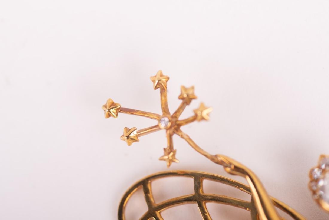 VAN CLEEF & ARPELS STYLE 18 KARAT GOLD & DIAMOND 'SPIRI - 4