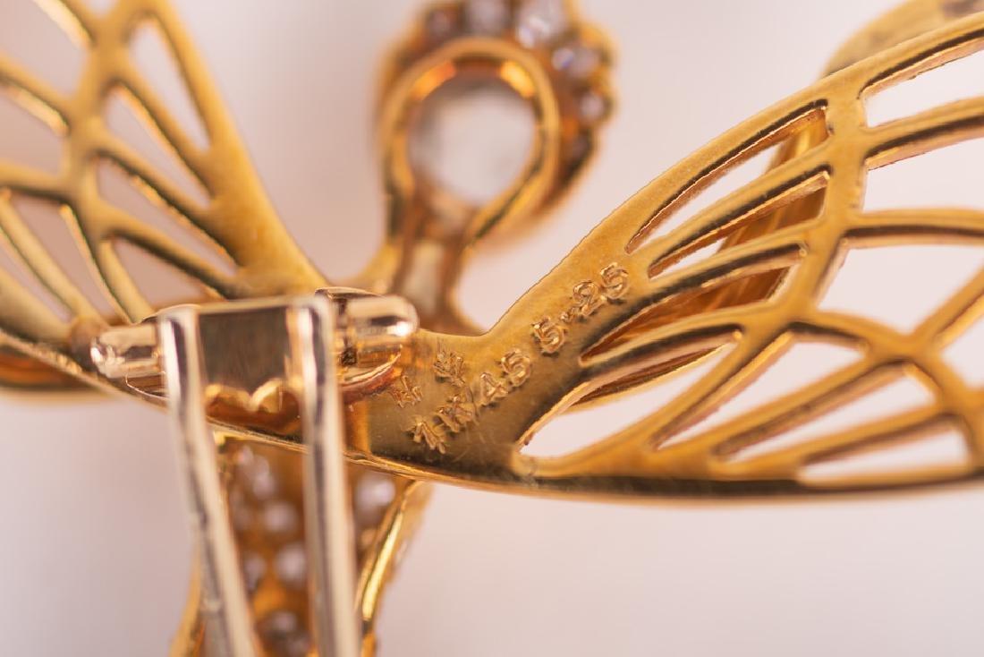VAN CLEEF & ARPELS STYLE 18 KARAT GOLD & DIAMOND 'SPIRI - 6