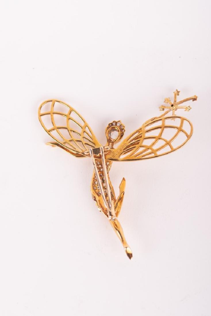 VAN CLEEF & ARPELS STYLE 18 KARAT GOLD & DIAMOND 'SPIRI - 7
