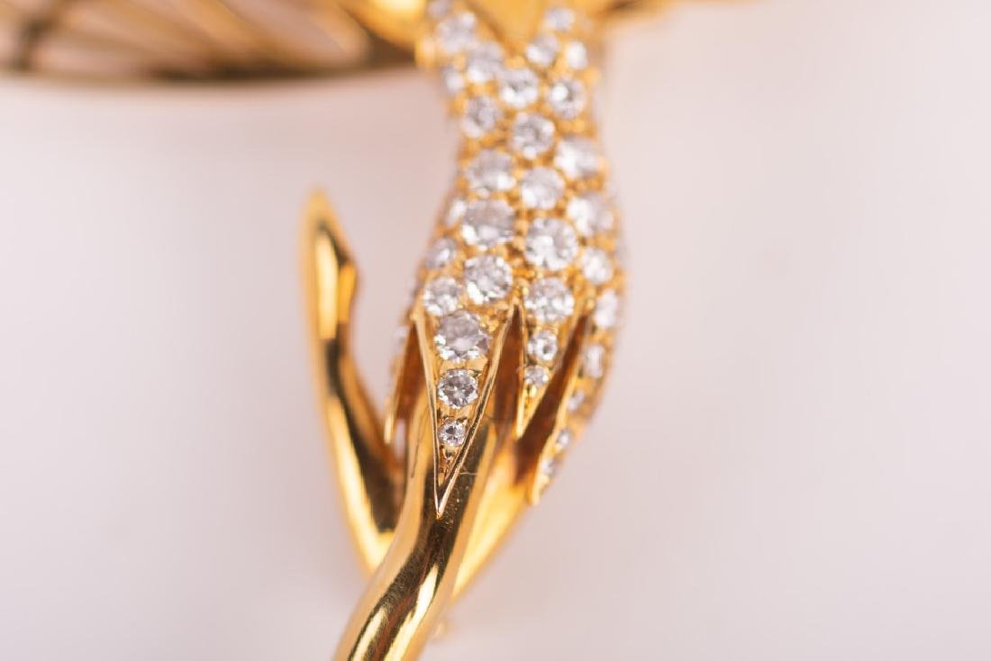 VAN CLEEF & ARPELS STYLE 18 KARAT GOLD & DIAMOND 'SPIRI - 8
