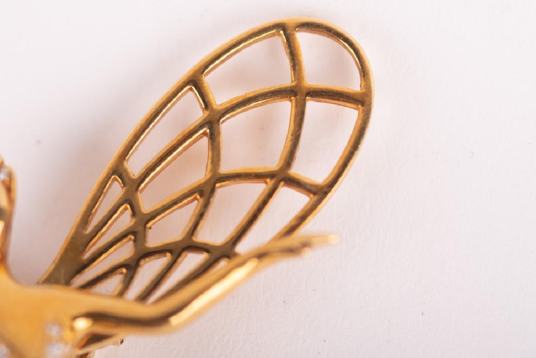 VAN CLEEF & ARPELS STYLE 18 KARAT GOLD & DIAMOND 'SPIRI - 9