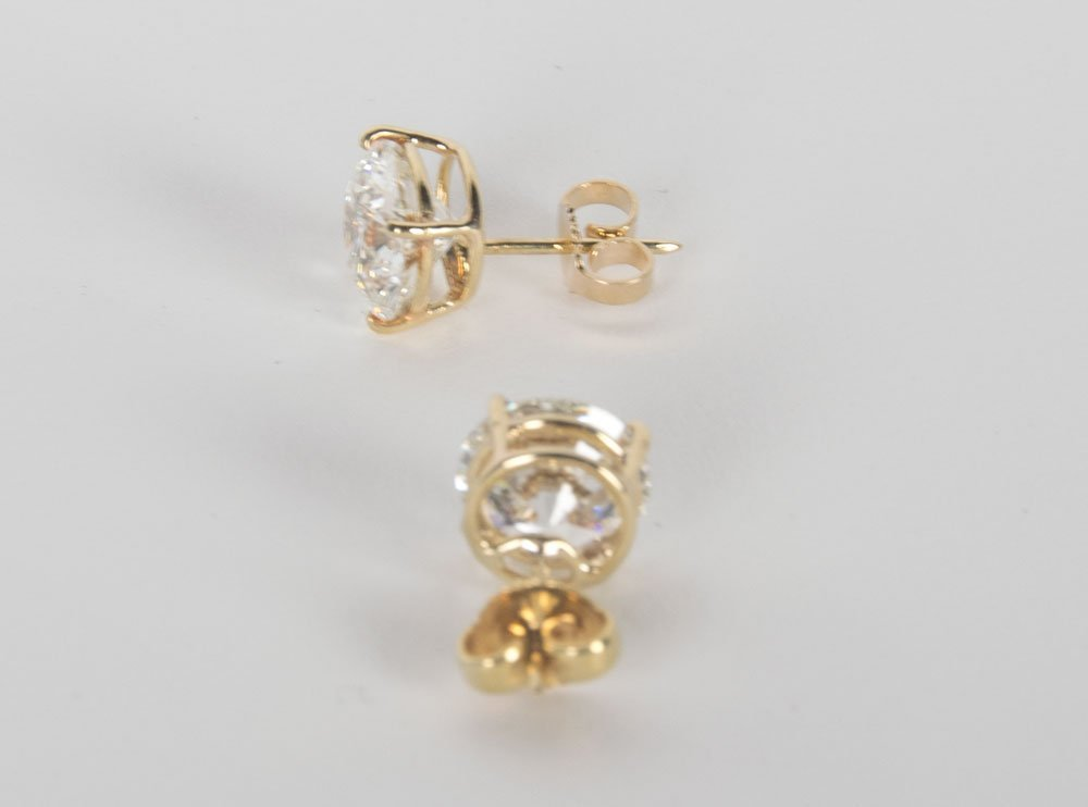 PAIR OF DIAMOND EAR STUDS - 3