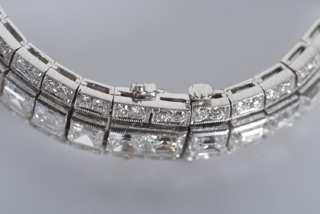 ART DECO STYLE PLATINUM & DIAMOND BRACELET - 3
