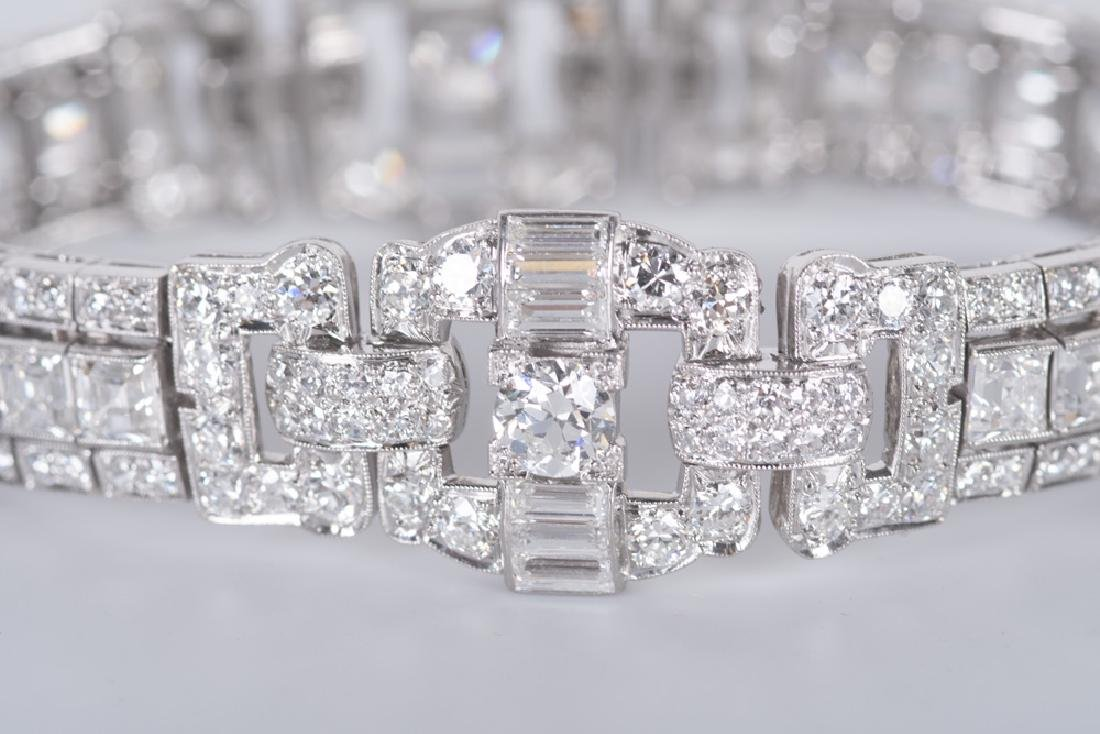 ART DECO STYLE PLATINUM & DIAMOND BRACELET - 4