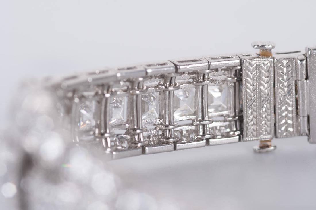ART DECO STYLE PLATINUM & DIAMOND BRACELET - 5