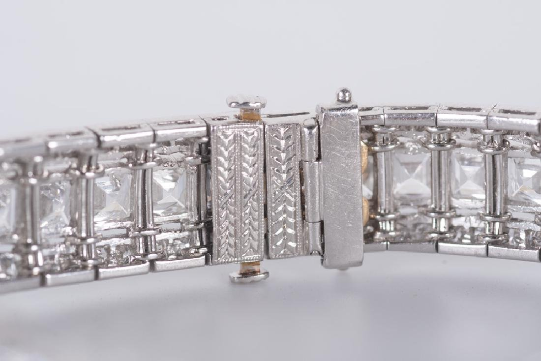 ART DECO STYLE PLATINUM & DIAMOND BRACELET - 6