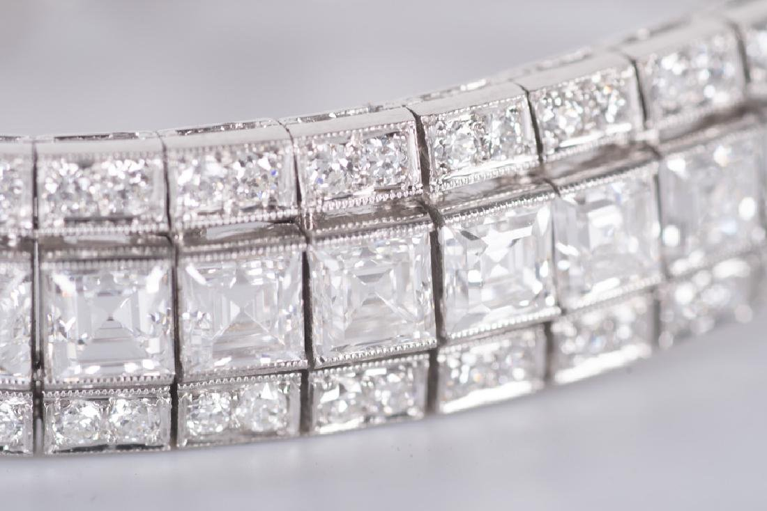ART DECO STYLE PLATINUM & DIAMOND BRACELET - 7