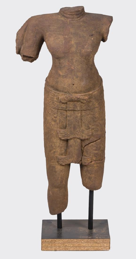 KHMER CARVED TORSO