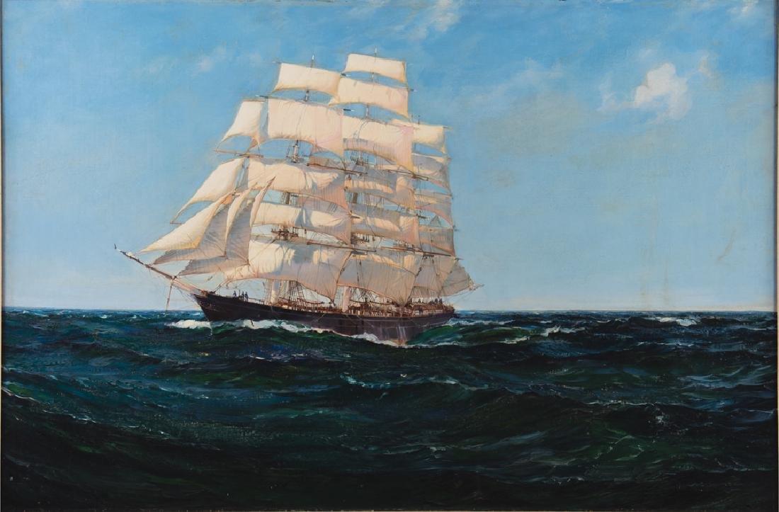 "MONTAGUE DAWSON: ""CLIPPER SHIP 'CUTTY SARK' ON SUMMIT"
