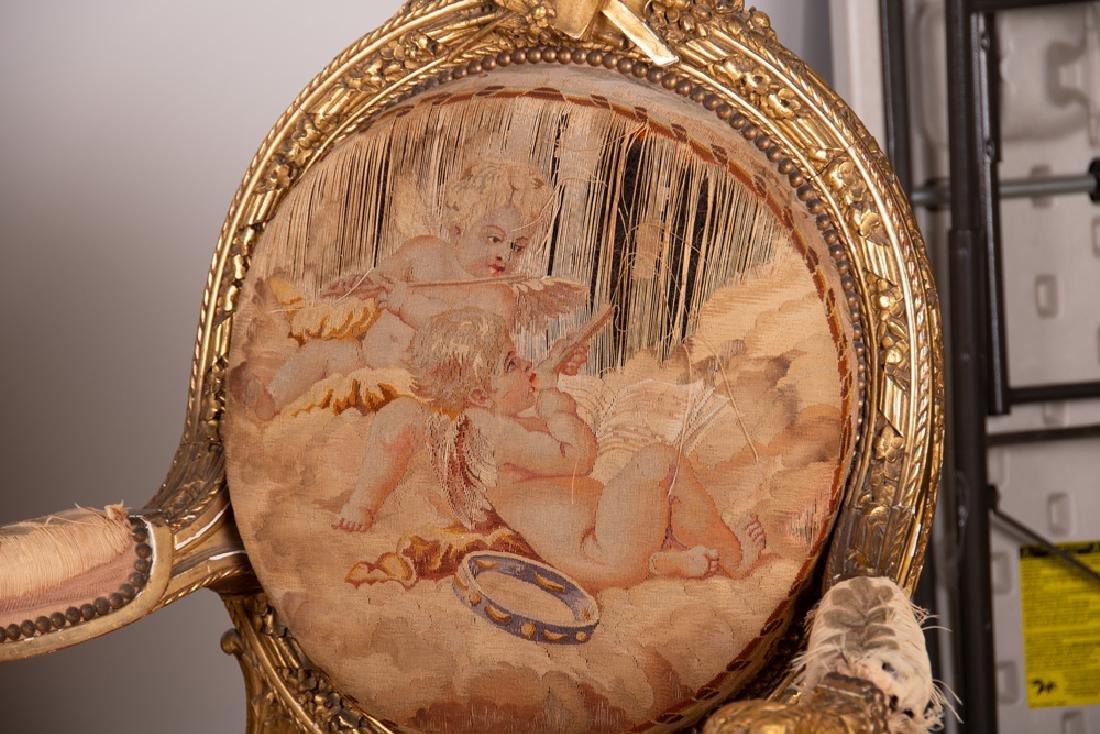 LOUIS XVI STYLE TAPESTRY UPHOLSTERED SALON SET - 3