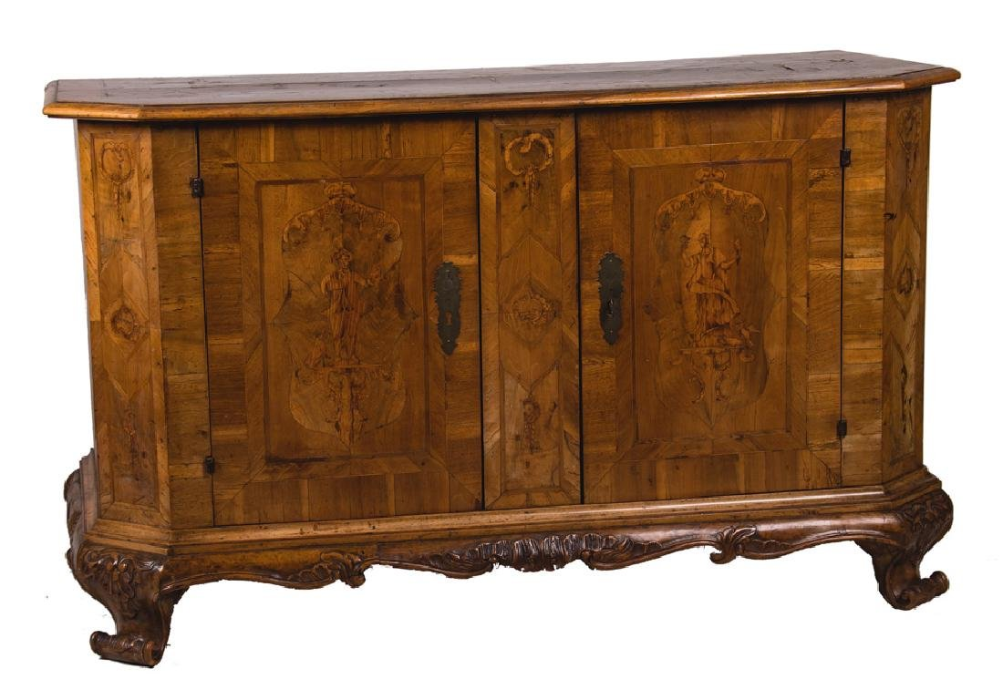 GERMAN INLAID CHEST OF DRAWERS