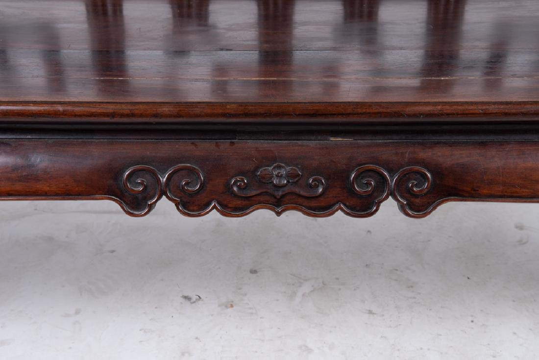CHINESE CARVED HARDWOOD BENCH - 6