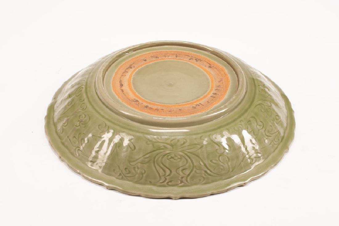 CHINESE CELADON PORCELAIN CHARGER - 2