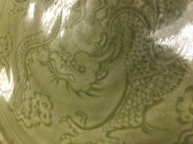 CHINESE CELADON PORCELAIN CHARGER - 4