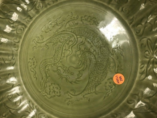 CHINESE CELADON PORCELAIN CHARGER - 6