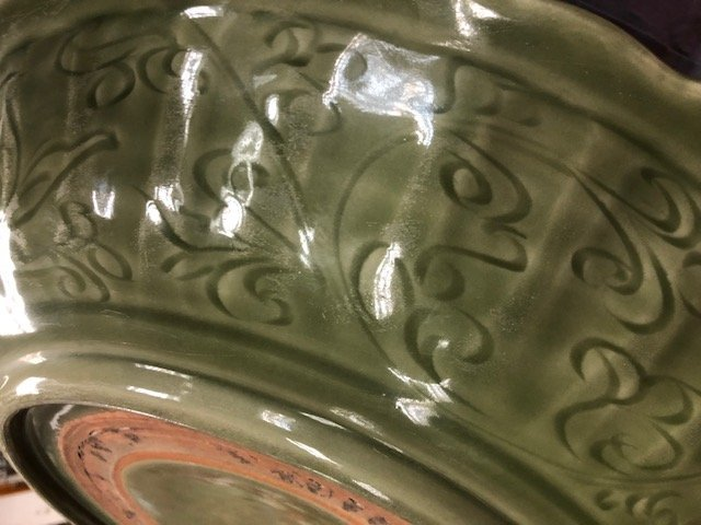 CHINESE CELADON PORCELAIN CHARGER - 9