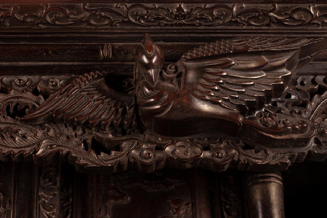 PAIR OF CHINESE CARVED HARDWOOD CABINETS - 8