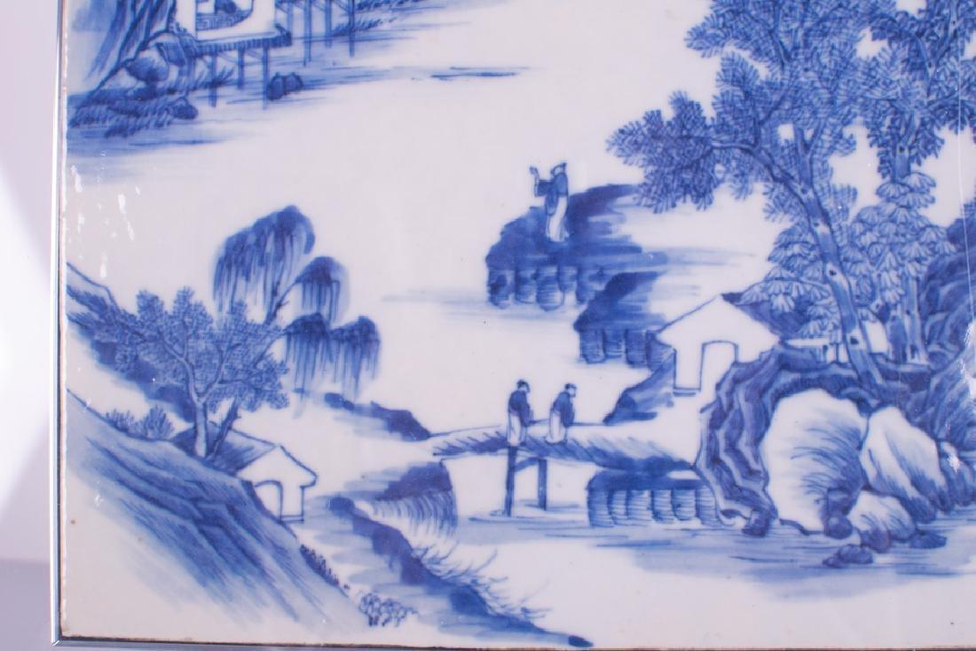 CHINESE BLUE & WHITE PORCELAIN TILE - 10