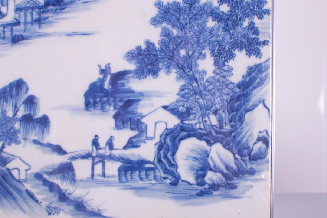 CHINESE BLUE & WHITE PORCELAIN TILE - 8