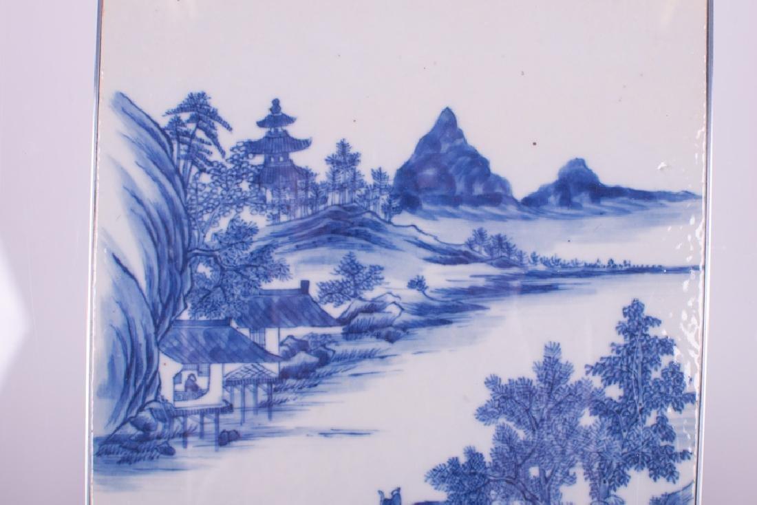 CHINESE BLUE & WHITE PORCELAIN TILE - 9
