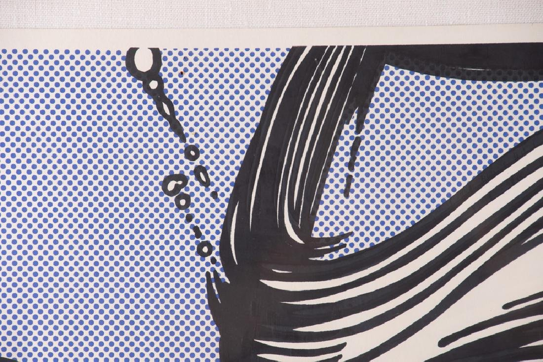 "ROY LICHTENSTEIN: ""BRUSHSTROKES"" - 9"