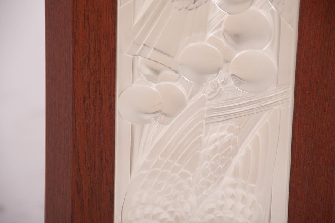 LALIQUE GLASS PANEL INSET GAME TABLE - 3