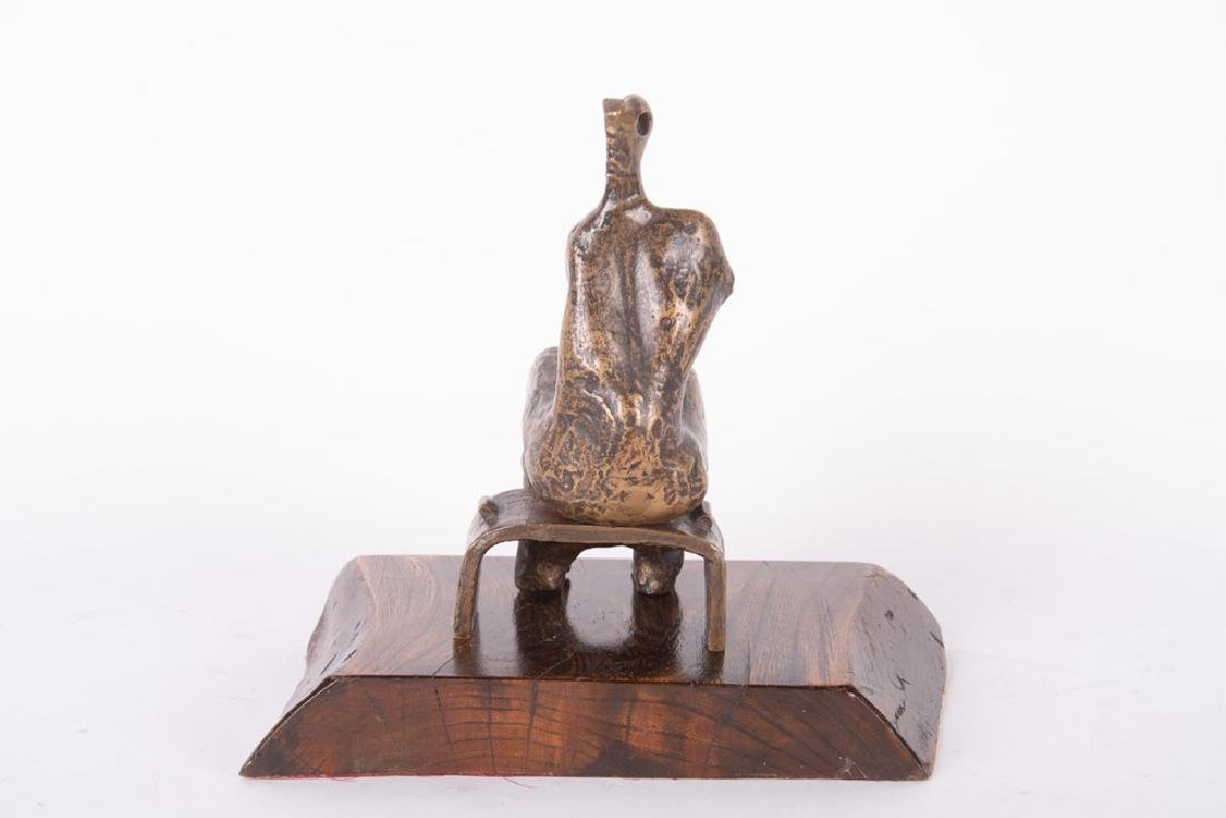 "HENRY MOORE: ""ARMLESS SEATED FIGURE"" - 10"