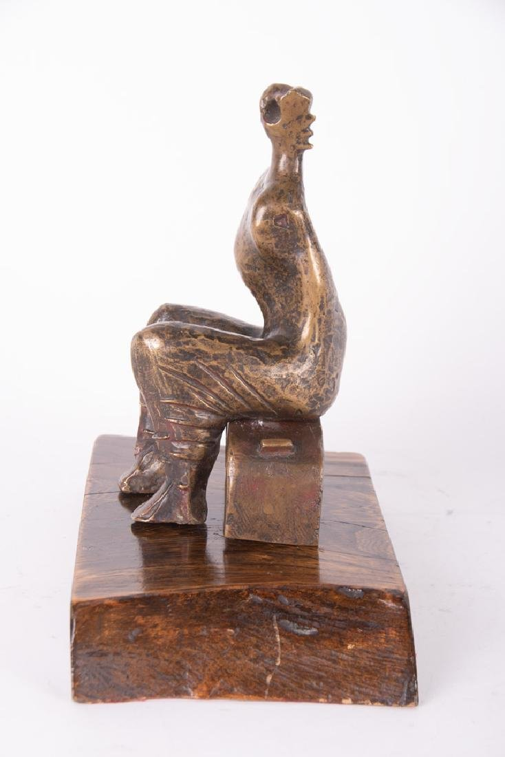 "HENRY MOORE: ""ARMLESS SEATED FIGURE"" - 9"