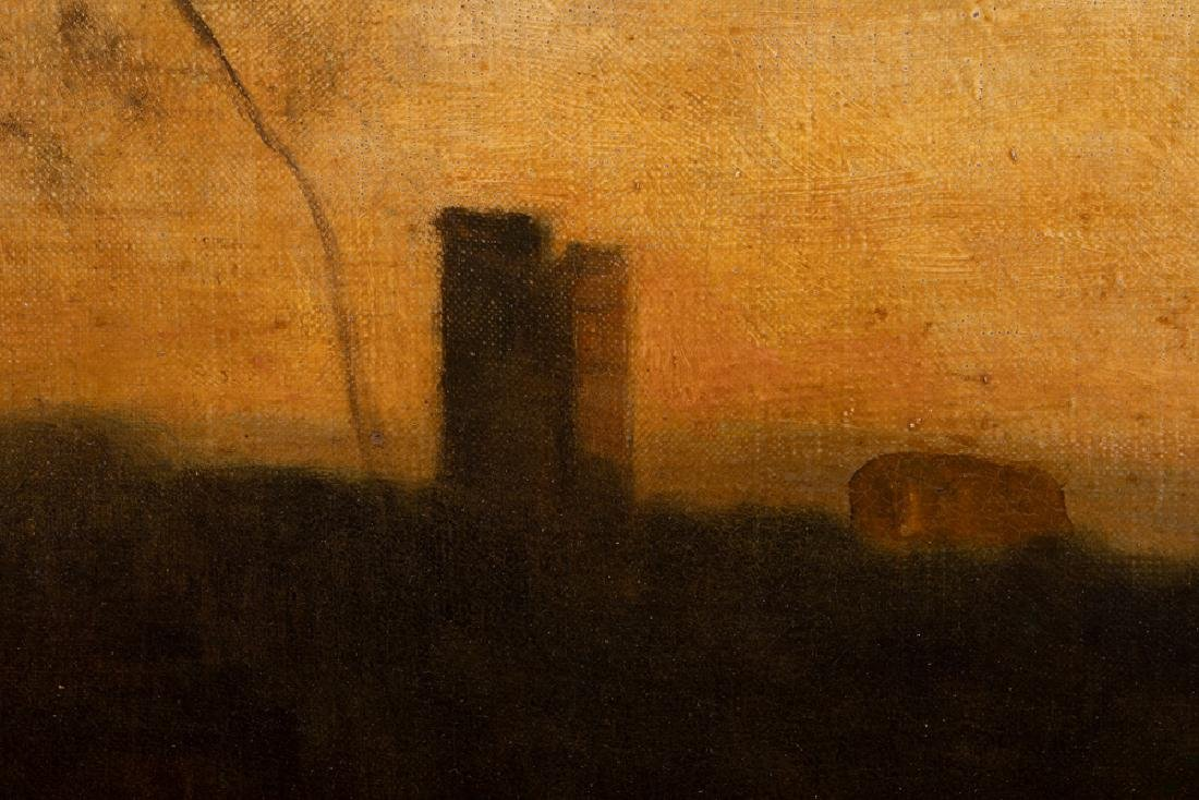 """ATTRIBUTED TO JEAN-BAPTISTE-CAMILLE COROT: """"SUNSET - 6"""
