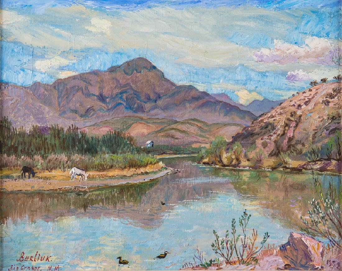 "DAVID BURLIUK: ""RIO GRANDE NEW MEXICO"""